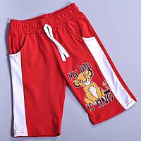 Детские летние трикотажные шорты, для мальчиков (5-8 лет) (4 ед в у п), Красный
