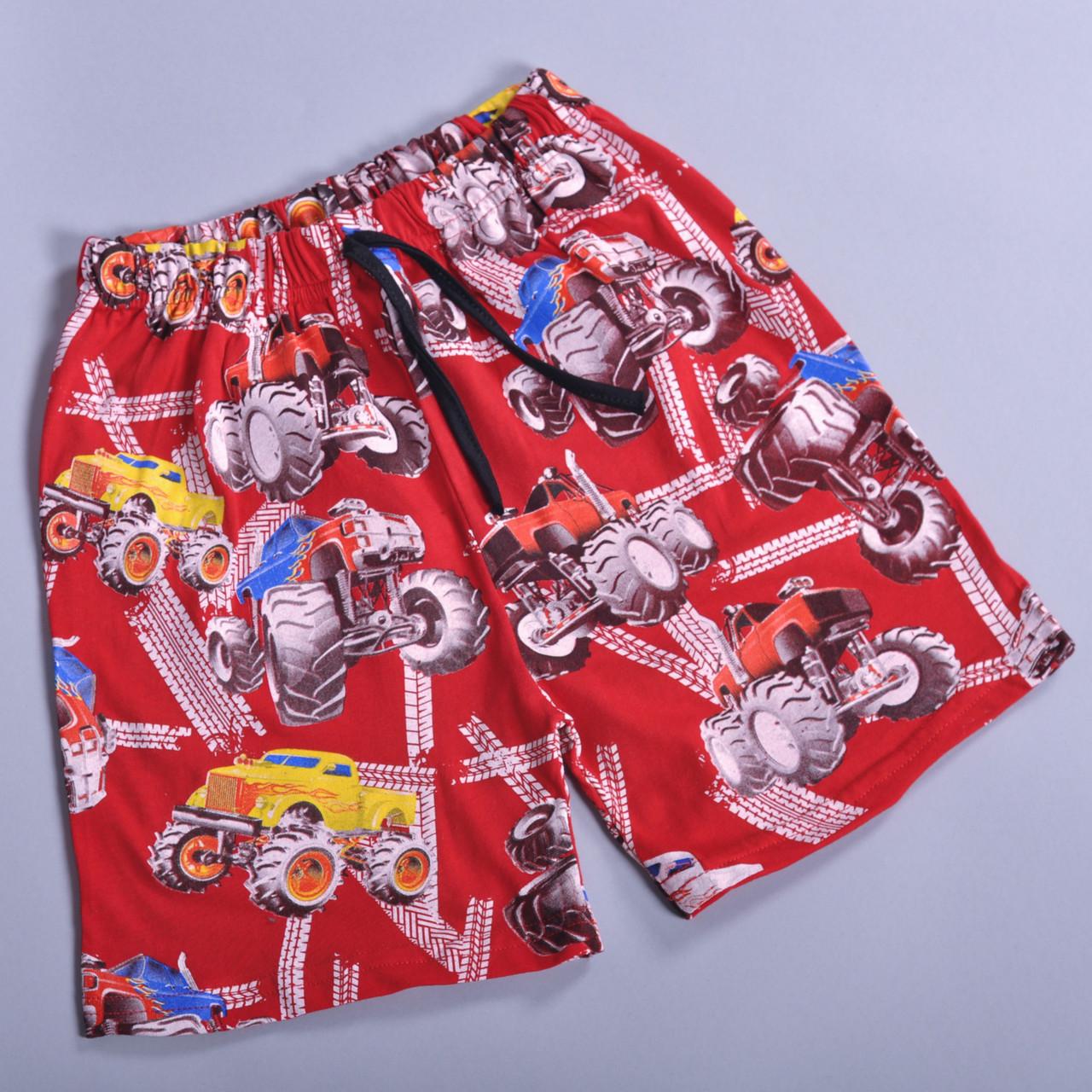 Детские летние трикотажные шорты, для мальчиков (9-12 лет) (4 ед в уп), Красный