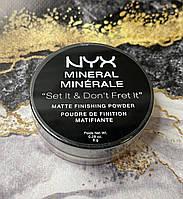 Минеральная рассыпная пудра  NYX Mineral Matte Finishing Powde цвет Ligth/Medium
