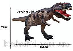 Большой динозавр Гигантозавр Gigantosaurus резиновый детализированный со звуковыми эффектами 26*65,5*17 см