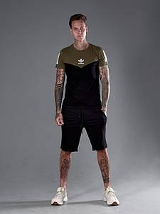 Мужской костюм футболка и шорты 1338 (РО)