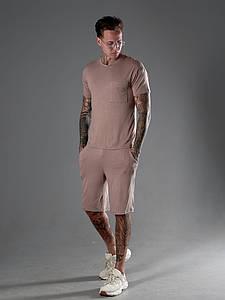 Мужской костюм футболка и шорты 1346 (РО)