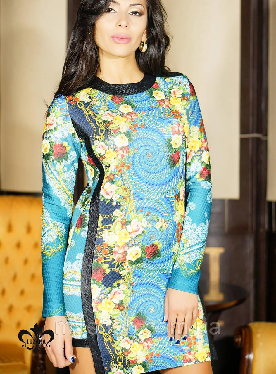Платье из стеганого трикотажа | Богема 2 lzn
