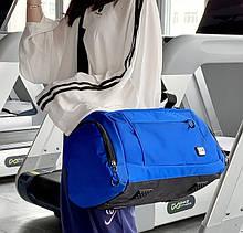 Сумка дорожная унисекс. Спортивная сумка с отделом для обуви. Сумка в спортзал, на фитнес. СЛ57
