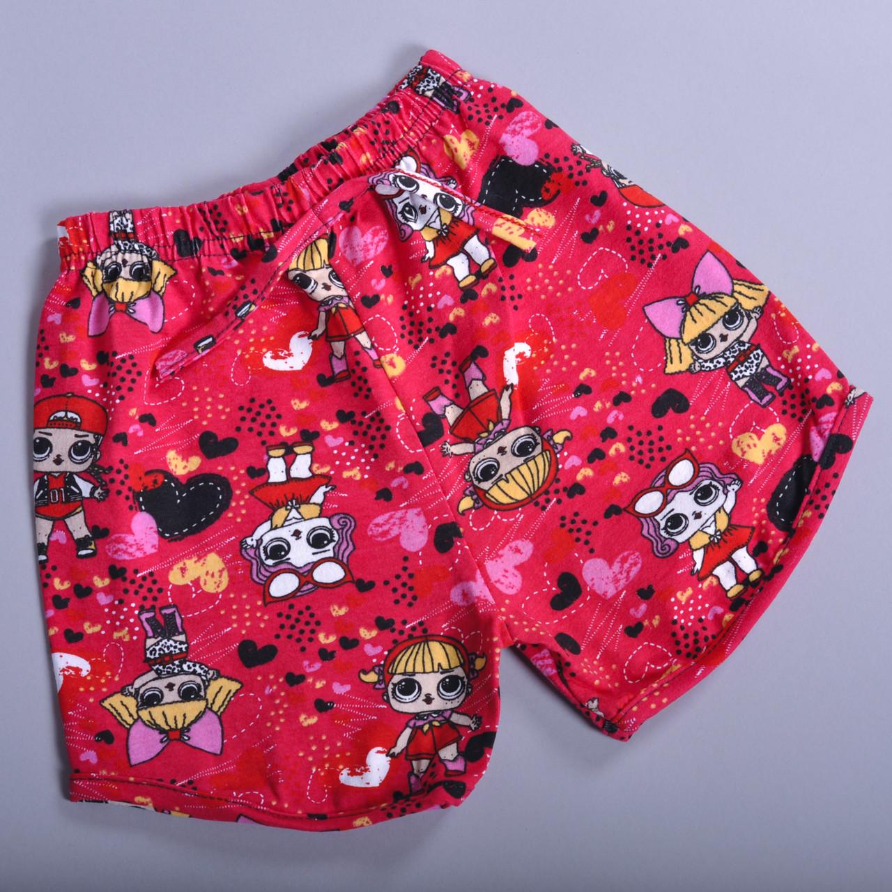 Дитячі літні шорти для дівчаток від 5-8 років (4 од. уп. )