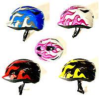 Велошлем детский для роликов, скейтов, велосипедов с регулировкой по объему головы (р.50-52 см), фото 1