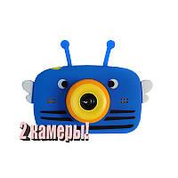 Детский цифровой фотоаппарат Children`s fun Синяя Пчелка Селфи Selfie 40М (YBBS)