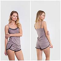 """Піжама комплект 2-ка жіночий з принтом розміри S-XL """"N. EL"""" купити недорого від прямого постачальник"""