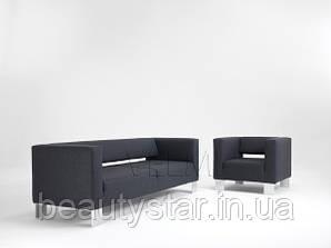 Диван для очікування VM211 тримісний офісний диван для клієнтів салону краси