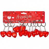 От 24 шт. Брелок пластиковый 2-109 сердце прозрачное красное купить оптом в интернет магазине От 24 шт.