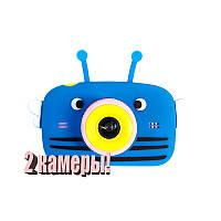 Оригинал Детский цифровой фотоаппарат Children`s fun Синяя Пчелка Селфи Selfie 40М (PBBS)