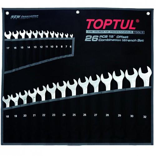 Набір ключів комбінованих 26 шт 6-32 мм TOPTUL Hi-Performance GPAX2601, набір рожково-накидних ключів