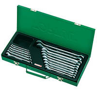 Набор ключей рожково-накидных TOPTUL 16 шт. 6-24мм (кейс) GAAD1602, набор гаечных ключей комбинированных