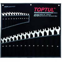 Набор ключей комбинированных 26 шт 6-32 мм TOPTUL Super-Torque GPAW2601, набор рожково-накидных ключей