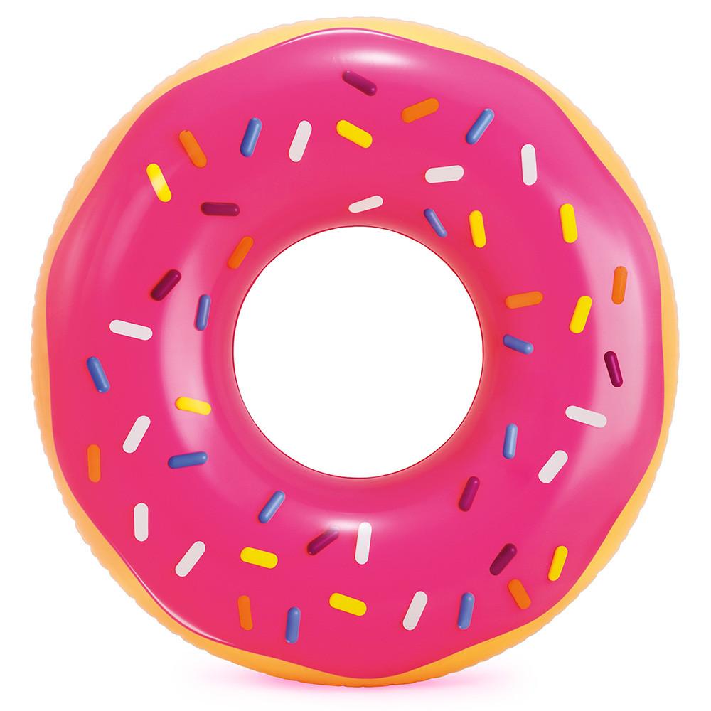 Круг надувной Интекс 114 см Розовый пончик 56256