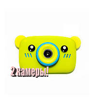 Оригинал Детский цифровой фотоаппарат Children`s fun Желтый Мишка 20Мп Селфи Selfie (BYMS)