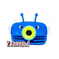 Original Детский цифровой фотоаппарат Children`s fun Синяя Пчелка 20Мп Селфи Selfie (BBBS)