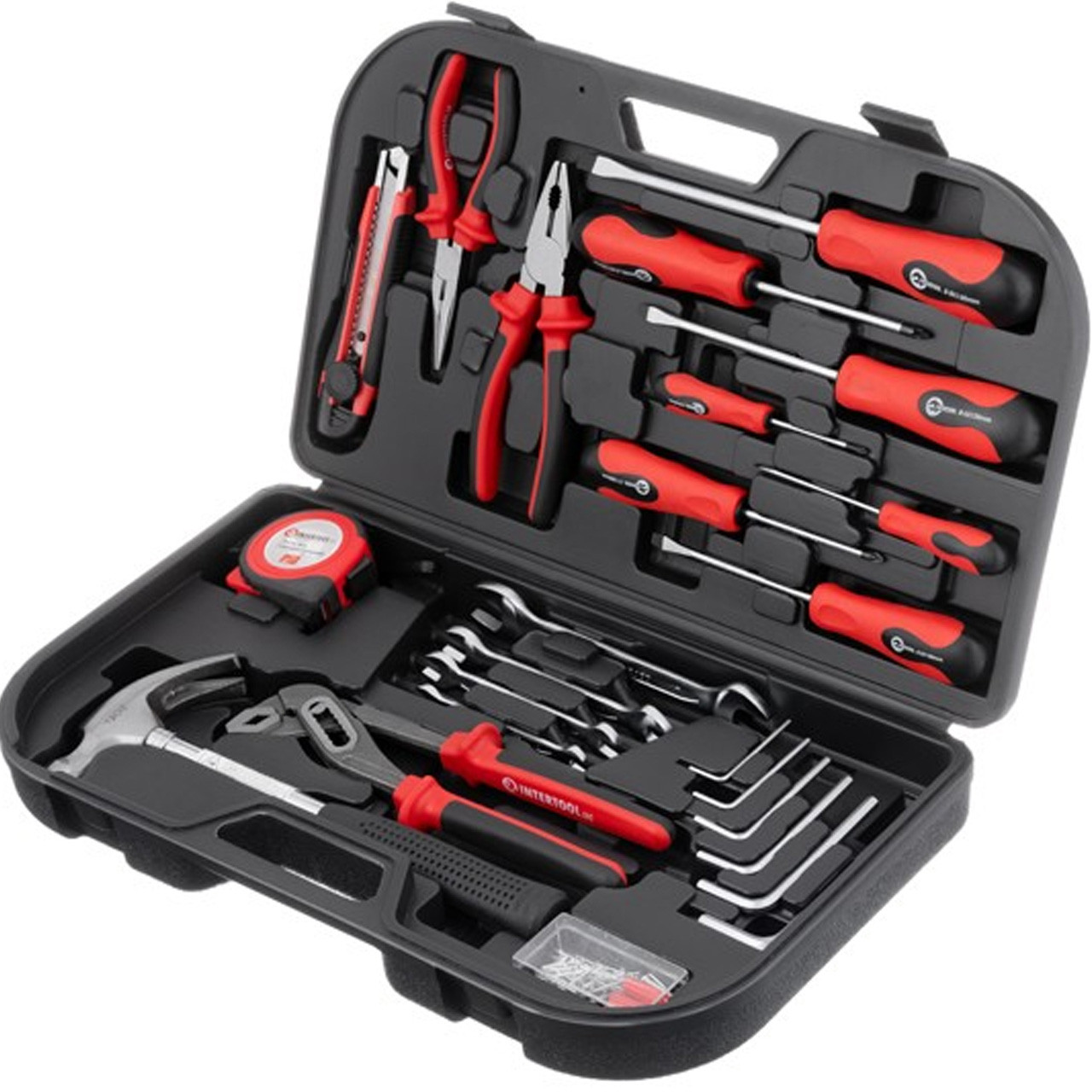 Слюсарний набір інструментів 24од Intertool ET-6001, набір інструментів для дому