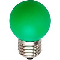 Лампа накаливания General Electric 15ВТ,  D1/G/E27 шарообразная зелёная (Венгрия)
