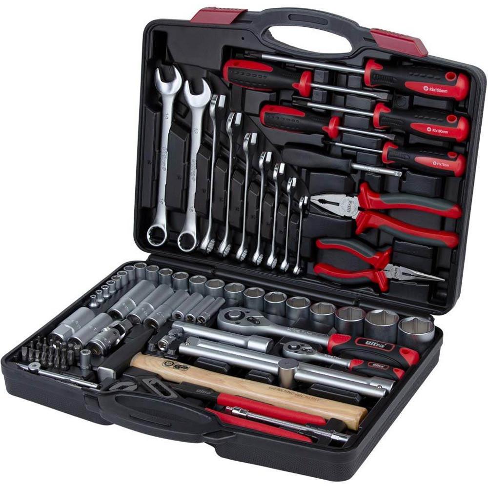 """Комбінований набір інструментів 1/4"""" 1/2"""" 80 шт ULTRA Sigma 6003112, набір інструмента для авто"""