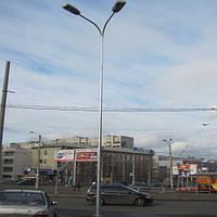Стальная гранёная оцинкованная опора высотой 4 м  4ASО60-156F(3)