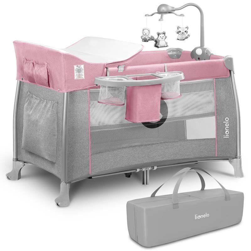 Кроватка-манеж Lionelo Thomi, цвет pink baby