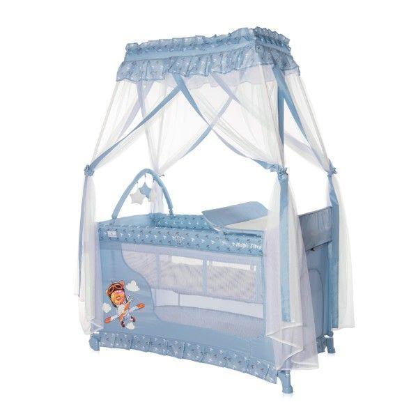 Кроватка-манеж Lorelli Magic Sleep (blue adventure)