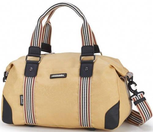 Качественная спортивная сумка из непромокаемой ткани Dolly (Долли) 932 бежевый