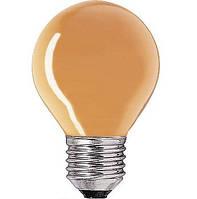Лампа накаливания цветная General Electric, 15Вт, Е27, оранжевая шарообразная(Венгрия)