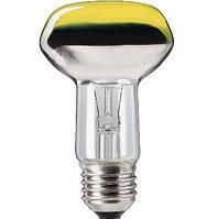 Лампа рефлекторная PHILIPS, 60W , R80,  E27 жёлтая