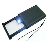 Лупа MG21015 выдвижная с LED подсветкой 3X-6X