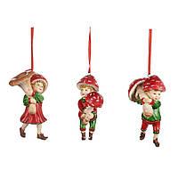Елочная игрушка дети-грибы Goodwill