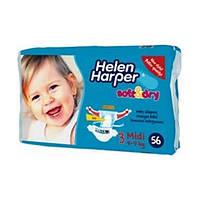 Подгузники Helen софт 3 4 9кг 56 шт