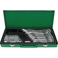 Набор ключей рожково-накидных TOPTUL 16 шт. 6-24мм (кейс) GAAD1603, набор гаечных ключей комбинированных