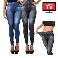Утягивающие джинсы (леджинсы) Slim 'n Lift Caresse (с начесом), фото 1