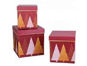 Набор подарочных коробок 3шт. новогодних W5020