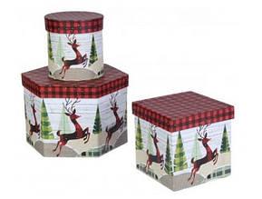 Набор подарочных коробок 3шт. новогодних W7926