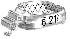 Бандажные кольца Wев с замками, низ право LR