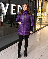 Жіноча демісезонна куртка баклажановая SKL11-282996