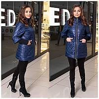 Жіноча демісезонна куртка синя SKL11-283131