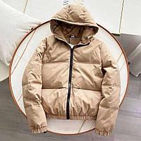 Жіноча куртка з матовою плащової тканини бежева SKL11-290233