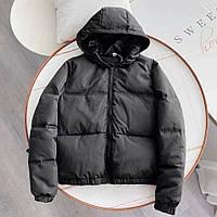 Жіноча куртка з матовою плащової тканини чорна SKL11-290230