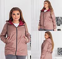 Жіноча куртка з плащової тканини мокко SKL11-289477