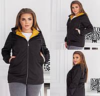 Жіноча куртка з плащової тканини чорна SKL11-289476