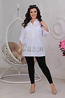 Жіноча вільна сорочка біла SKL11-291542