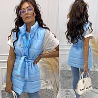 Жіночий жилет блакитний SKL11-290415