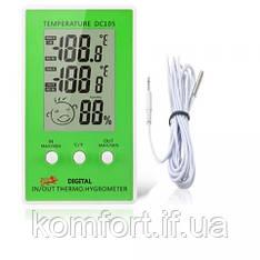Гігрометр - термометр смайлик з виносним датчиком