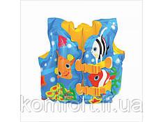 Жилет надувний дитячий 59661sh з рибками INTEX