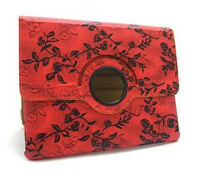 Чехол для  iPad 2/iPad 3/iPad 4 Red flowers gloss only one (Red)