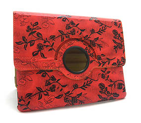 Чохол для iPad 2/iPad 3/iPad 4 Red flowers gloss only one (Red)